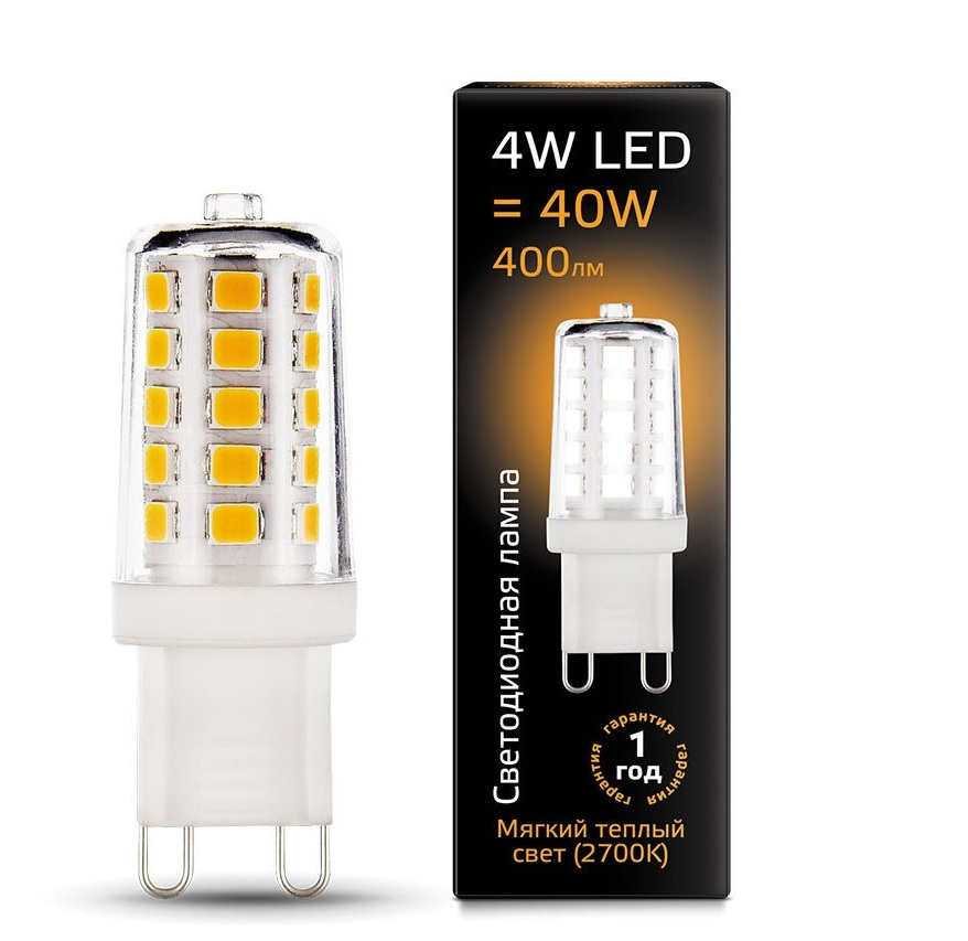 Gauss LED 4W 2700K G9