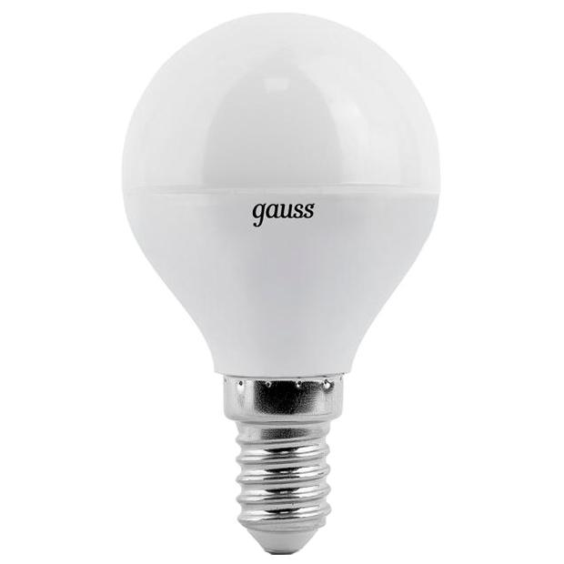 Gauss LED G45 6.5W 2700K E14